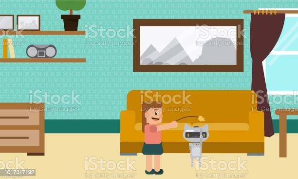 Young girl playing at home with cat robot vector id1017317192?b=1&k=6&m=1017317192&s=612x612&h=astlc933dysudicphf r1wm9qrb7mwbfgxahj2tpe4o=