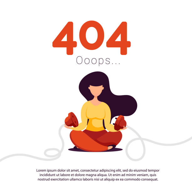 A young girl unplugged electric plug and socket from the network. Illustration of creativity 404 page not found error. Creative flat composition of woman unplugged electric plug and socket error message stock illustrations