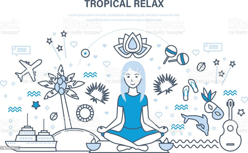 Young girl vacationing in warm countries, relaxes, restores strength royalty-free young girl vacationing in warm countries relaxes restores strength stock vector art & more images of adult