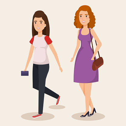 Unga Flickor Avatarer Tecken-vektorgrafik och fler bilder på Akademikeryrke
