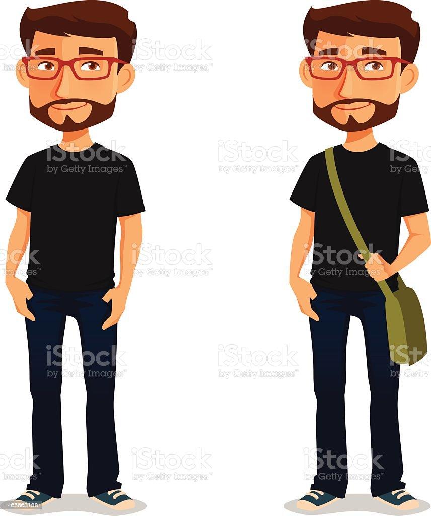 Junger Mann In Legere Kleidung Stock Vektor Art und mehr ...