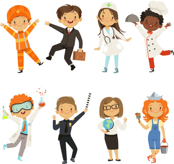 Best Child Dressed As Doctor Illustrations, Royalty-Free ...