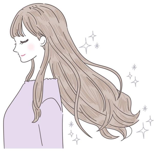 若い女性の髪は美しいです - 美容室点のイラスト素材/クリップアート素材/マンガ素材/アイコン素材