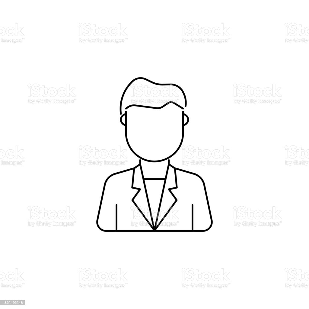 young man avatar icon vector art illustration