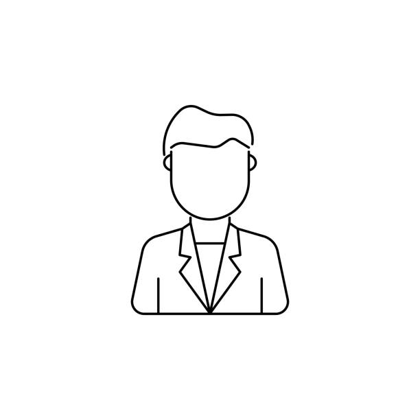 young man avatar icon - business casual fashion stock illustrations