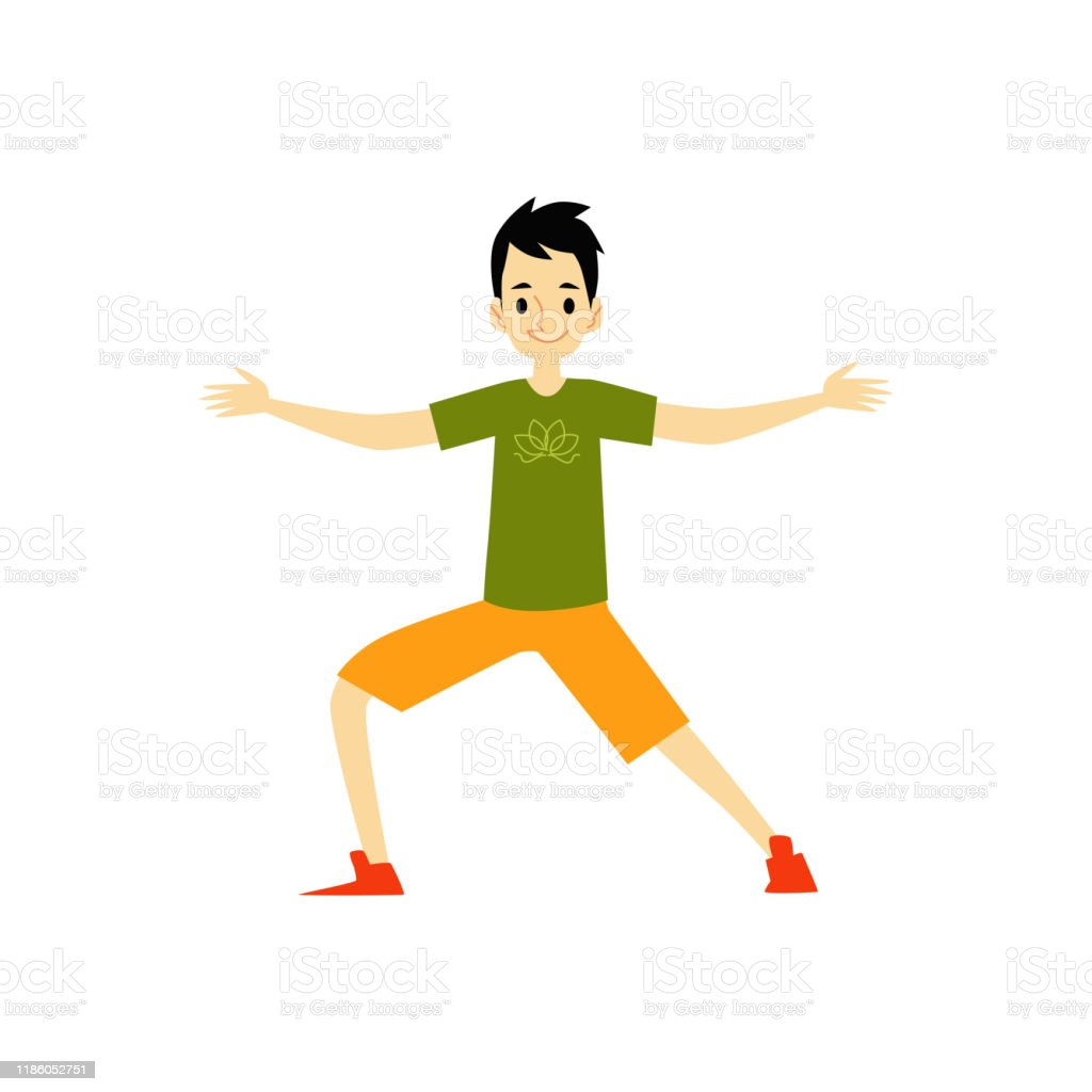 Young Man Character Doing Yoga Exercise Cartoon Flat Vector Illustration Isolated Stock Illustration Download Image Now Istock