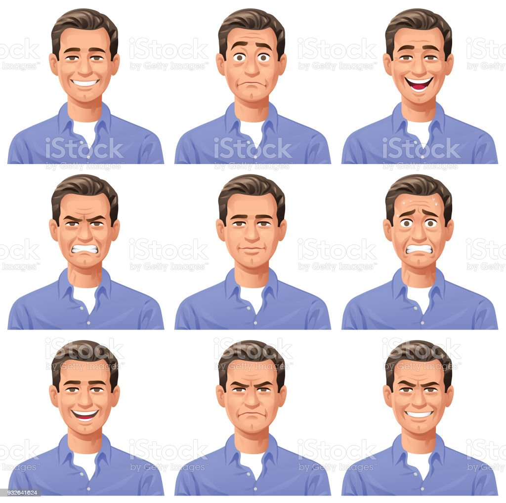 Young Man- Facial Expressions