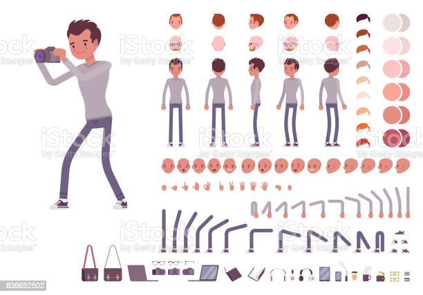 Young man in casual clothes character creation set vector id836652502?b=1&k=6&m=836652502&s=612x612&h=hgwzsdayl f8bsrssmheeklqjzmfrr2emo0yoa0tvne=
