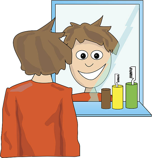 Royalty Free Man Looking In Mirror Clip Art, Vector Images ...