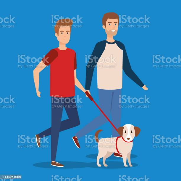 Young man walking with dog vector id1144251668?b=1&k=6&m=1144251668&s=612x612&h=3eabakqsofm6pcmupleijn6qsow4awiwtgtgk38vqow=