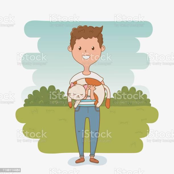 Young man with cute cat mascot vector id1146114484?b=1&k=6&m=1146114484&s=612x612&h=3ivlmk4cn1h4wz6qjq2aftk3iimsaa24 uoux2nynpq=