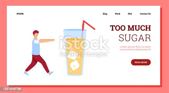 istock Young man with sugar addiction going to glass with very sweet drink. 1331646796