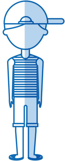 young man with summer fashion - summer fashion stock illustrations, clip art, cartoons, & icons
