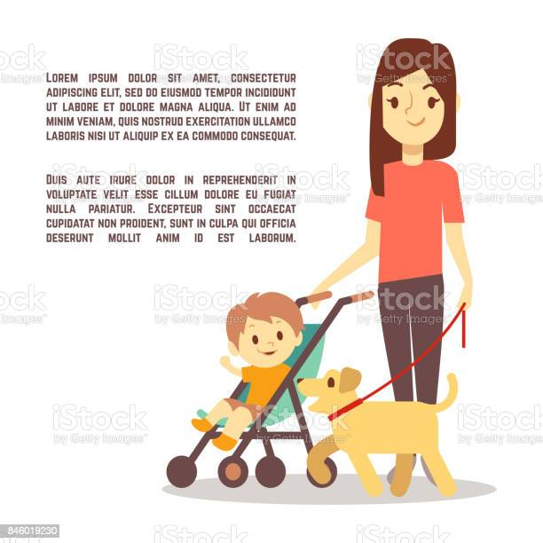 Young mother with baby carriage kid and dog motherhood poster design vector id846019230?b=1&k=6&m=846019230&s=612x612&h=nhrefp si5vqkfq vijn3qf6vr2ov3gnu3y3gh hxno=