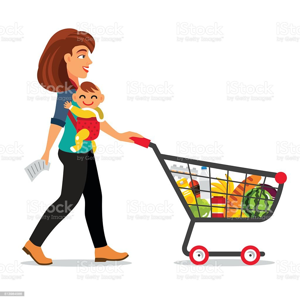 royalty free baby trolley clip art vector images illustrations rh istockphoto com shopping trolley clipart trolley clipart car