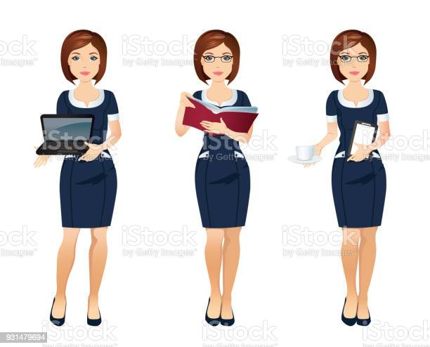 Young office woman assistant in different poses vector id931479694?b=1&k=6&m=931479694&s=612x612&h=5zqczqskudamxqbewzglozocooxw6vv4nnf g6d ck0=