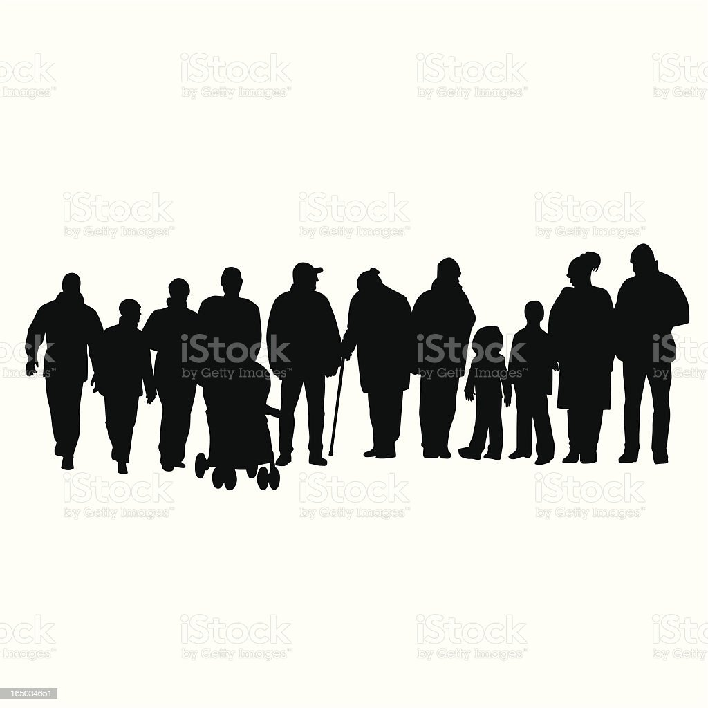 Young Old Vector Silhouette royalty-free stock vector art