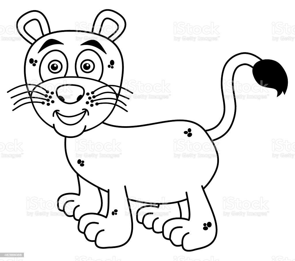 Ilustración de Joven Sonriendo Para Colorear Panther y más banco de ...
