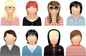 Young People, Avatars & User Icons