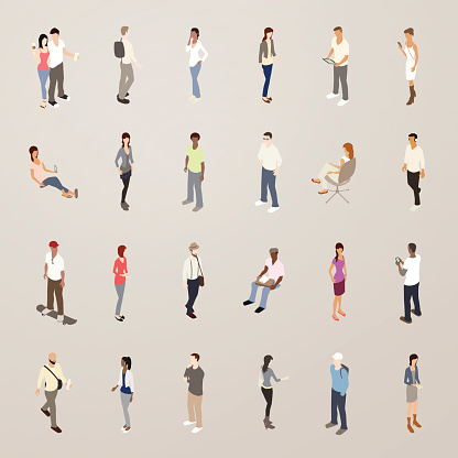 Young People - Flat Icons Illustration