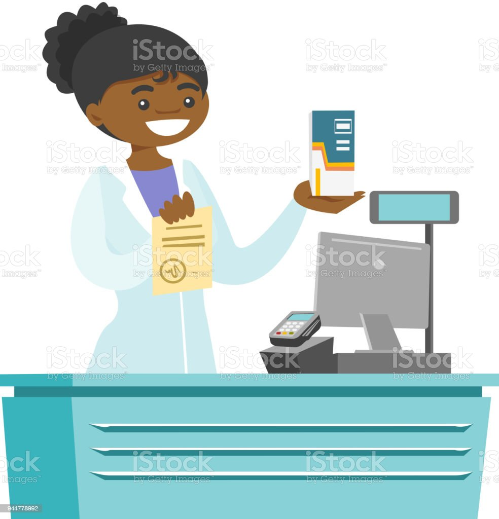 royalty free female pharmacist at the counter in a pharmacy shop rh istockphoto com