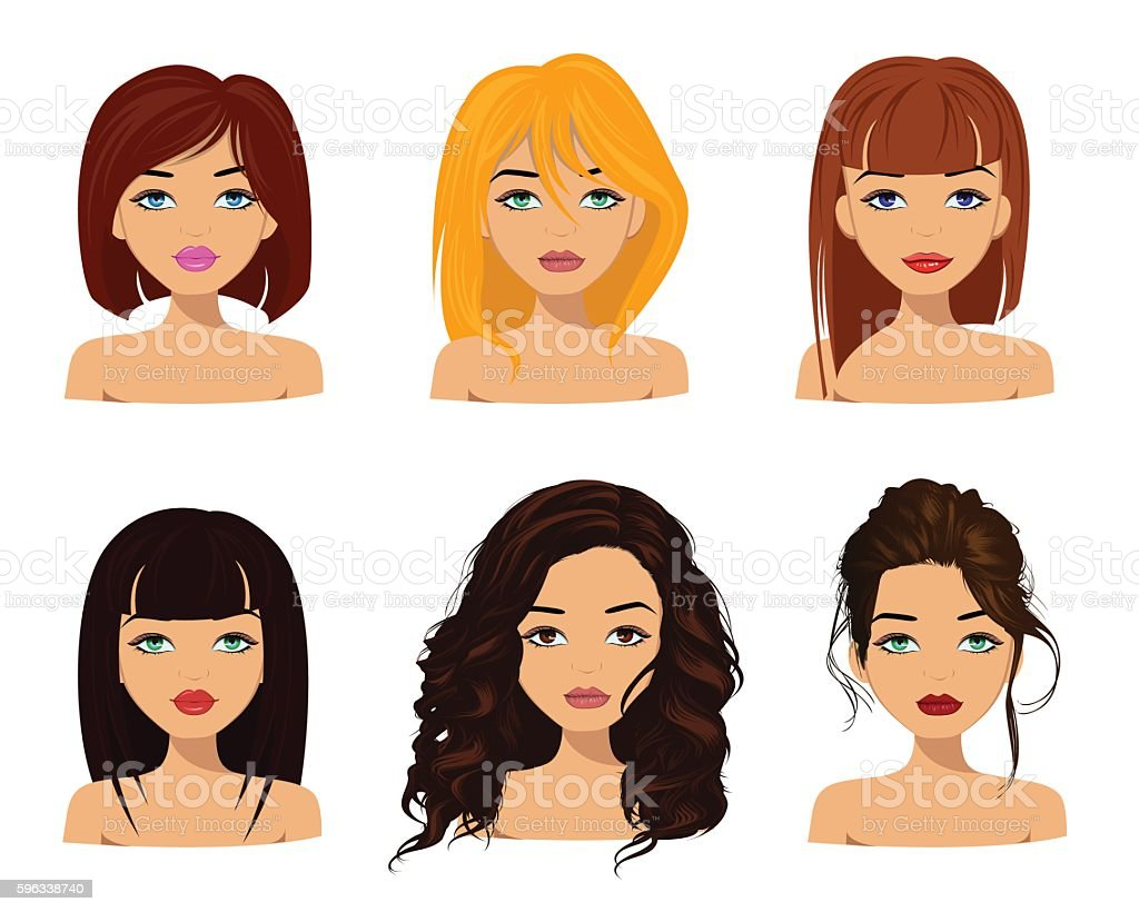 Young pretty women with cute faces royalty-free young pretty women with cute faces stock vector art & more images of adult