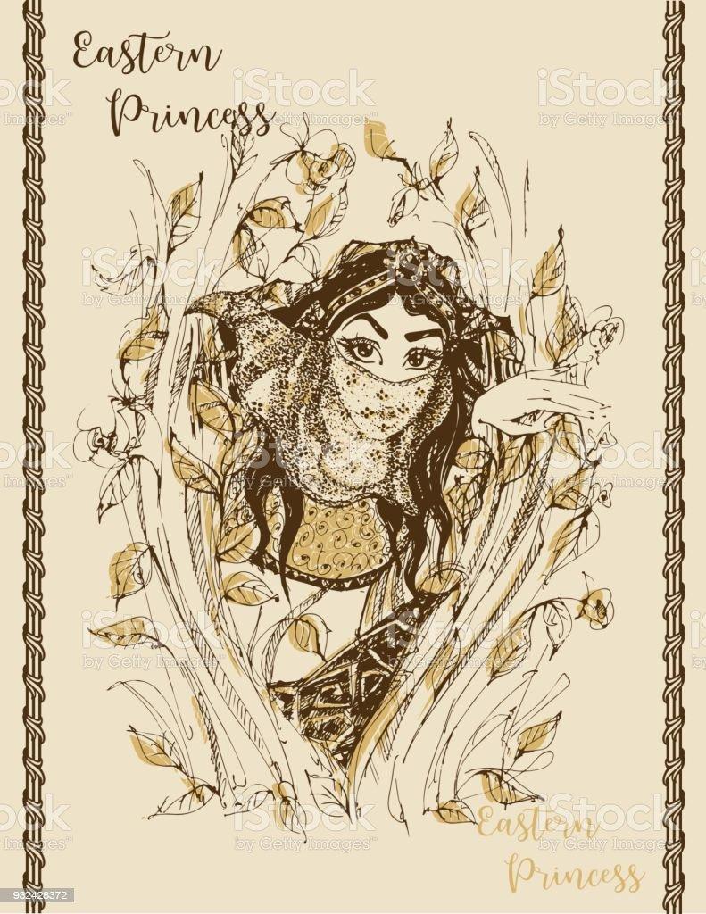 Jeune Princesse Image Fabuleuse Illust Graphisme Elegant