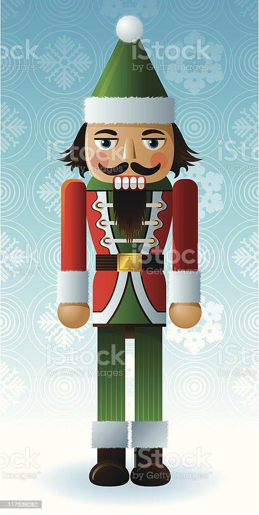 Young Santa Nutcracker vector art illustration
