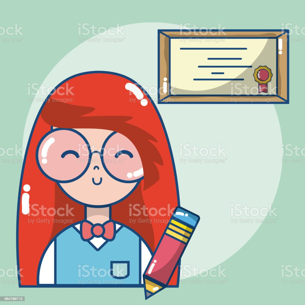 Young school student cartoon royalty-free young school student cartoon stock vector art & more images of art