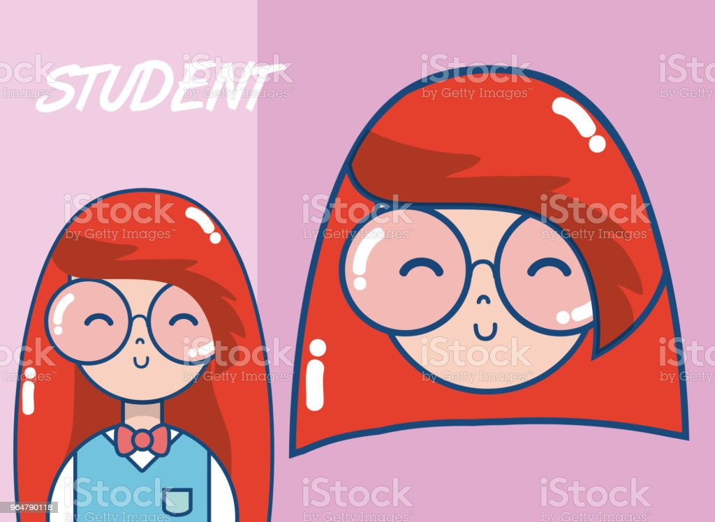 Young school student cartoon royalty-free young school student cartoon stock vector art & more images of no people