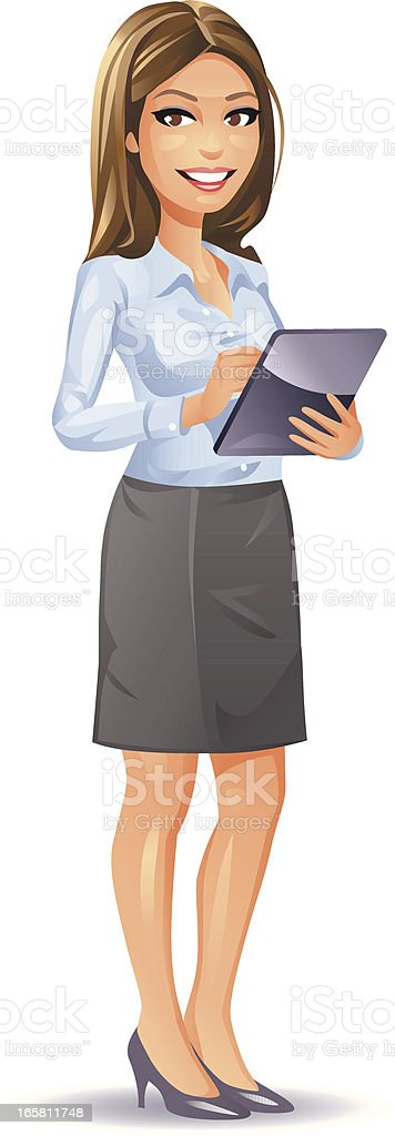Young Secretary royalty-free stock vector art