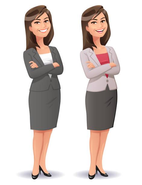Jeune souriant Femme d'affaires - Illustration vectorielle
