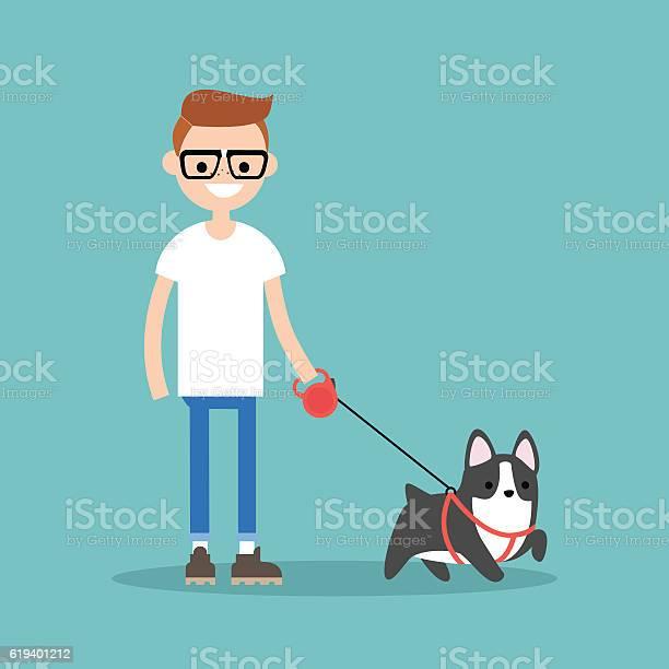 Young smiling nerd walking the dog vector id619401212?b=1&k=6&m=619401212&s=612x612&h=pql7pumms ldllp9o7zhv5gg3sfgoue07wzicfeaf9u=