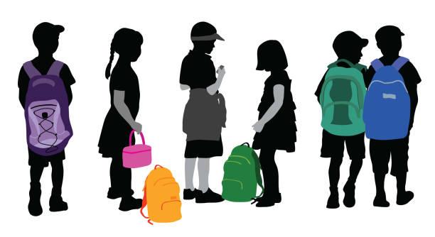 Junger Student Rucksack Flair – Vektorgrafik