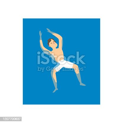 istock Young student man swimming at his back in water sea 1207700637