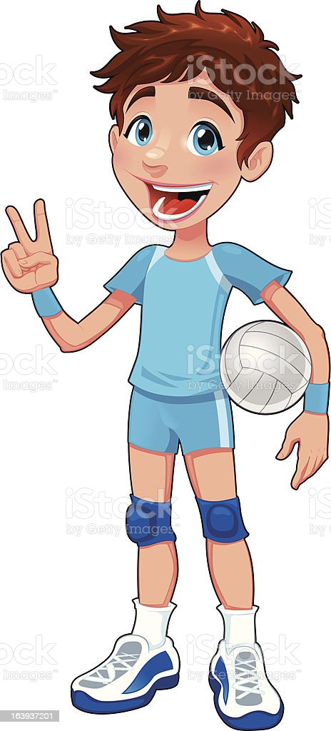 Young volleyball player. royalty-free stock vector art