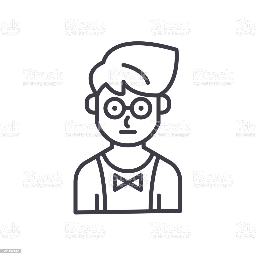 Young waiter black icon concept. Young waiter flat  vector symbol, sign, illustration. royalty-free young waiter black icon concept young waiter flat vector symbol sign illustration stock vector art & more images of adult
