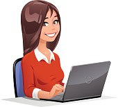 Young Woman At Laptop