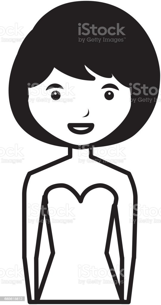 junge Frau Avatar Charakter Lizenzfreies junge frau avatar charakter stock vektor art und mehr bilder von attraktive frau