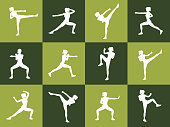 Young woman body combat and fitness
