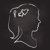 Young Woman Chalk Portrait