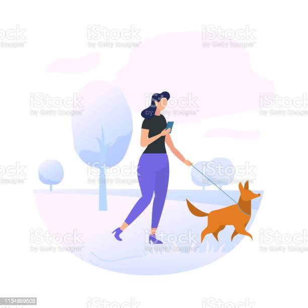 Young woman character walking with dog in park vector id1134999503?b=1&k=6&m=1134999503&s=612x612&h=ivhrsvksfy bly6zyas6igz58pdtsfwrohty171elbu=