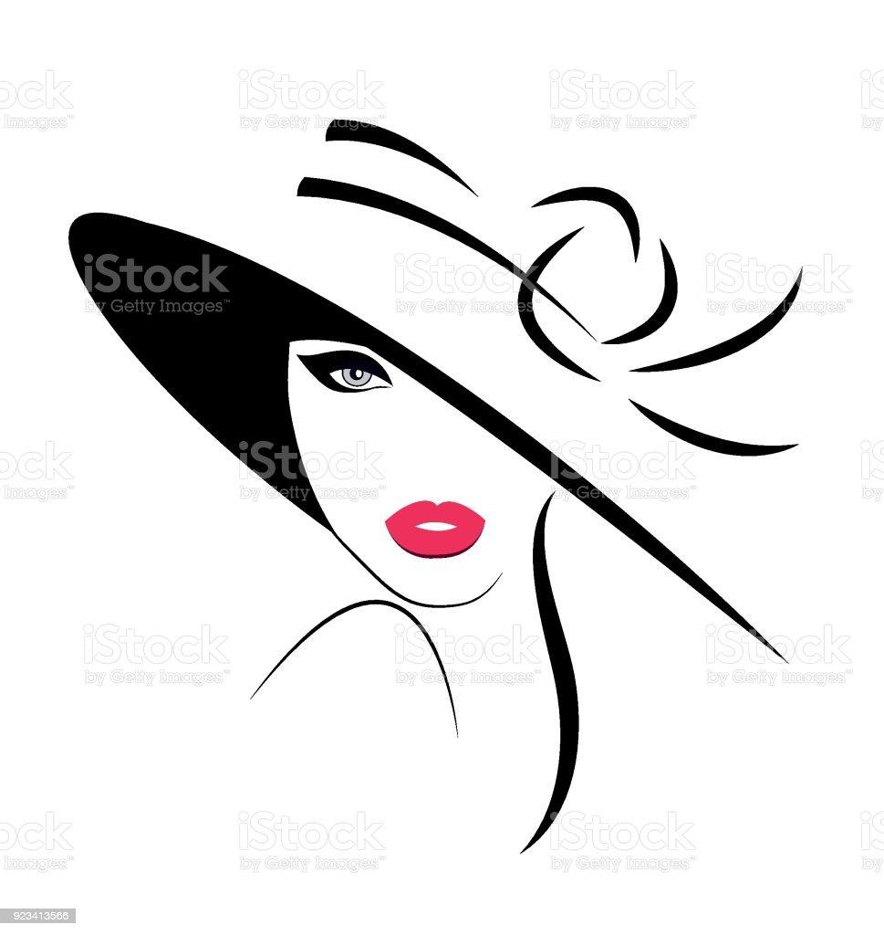 Mujer joven con sombrero ilustración de mujer joven con sombrero y más vectores libres de derechos de adulto libre de derechos
