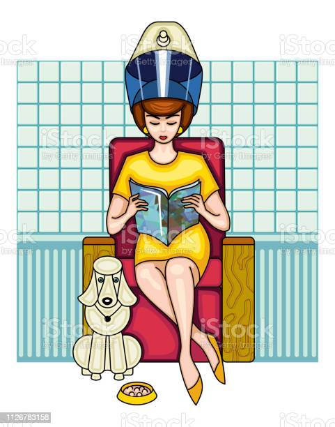 Young woman is sitting in a old fashioned beauty salon girl is dryer vector id1126783158?b=1&k=6&m=1126783158&s=612x612&h=tmoixiok03ianedcuwcnzdvm0gwpj2g95wqioge pxe=