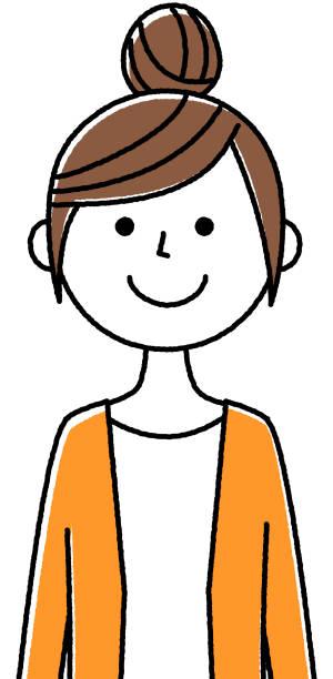 若い女性、ママ - 女性 笑顔点のイラスト素材/クリップアート素材/マンガ素材/アイコン素材