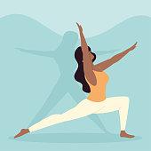 istock young woman practicing yoga 1322512443