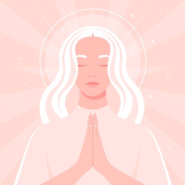 244 Clip Art Of Angel Praying Illustrations Clip Art Istock