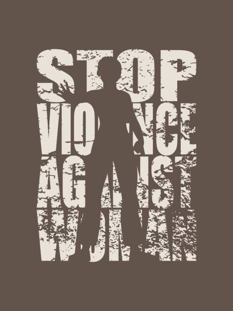 a young woman show stop gesture. stop violence social concept. - domestic violence stock illustrations