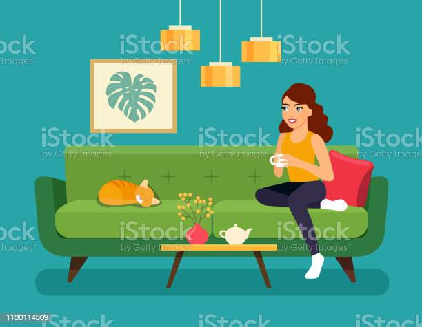 Young woman sitting on sofa isolated vector flat style illustration vector id1130114309?b=1&k=6&m=1130114309&s=612x612&h=8eglteqnu0yyvuma0qady7suvz vnee niiurkeibx0=