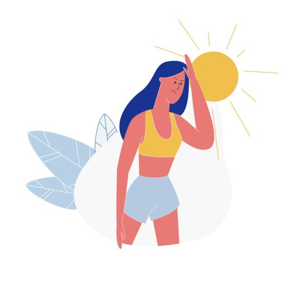 Sweaty Hot Woman Spraying Herself With Water Clipart   #13389 by DJArt    Royalty-Free Stock Cliparts